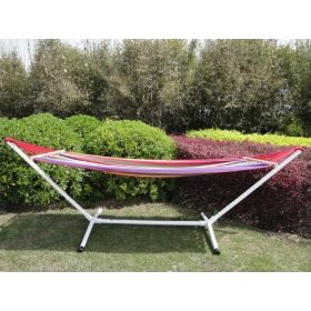 Single hammock with stand combo - extra wide brazilian hammock (79