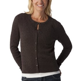 Merona® women's cable cardigan sweater - heather brown