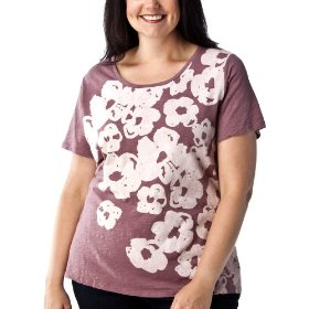 Women's plus-size merona® beatnik berry short-sleeve fashion tee