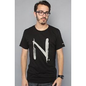 Nixon the straight edge tee in black,t-shirts for men