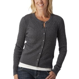 Merona® women's cable cardigan sweater - heather grey