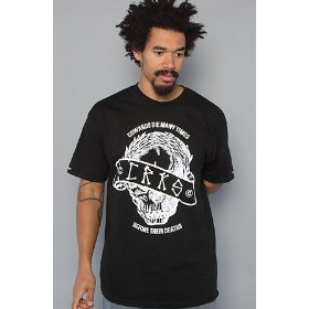 Crooks and castles the caesar skull tee in black,t-shirts for men