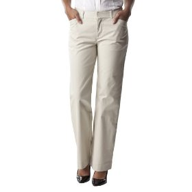 Cherokee® women's classic elastic back chino - oyster