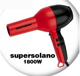 Solano Supersolano Hair Dryer - black 1800 Watts (DSO0232 BLACK/RED)