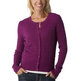 Merona® women's cable cardigan sweater - quaint berry