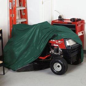 Weather wrap riding lawn mower cover