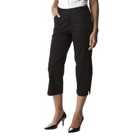 Cherokee® women's elastic back five pocket crop - black