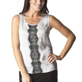 Merona® collection women's zola woven top - silver foil