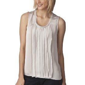Mossimo® women's satin sleeveless top - gray ice