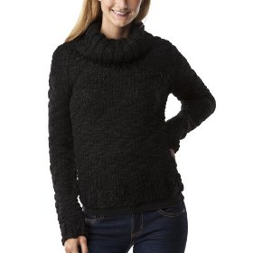 Mossimo supply co. juniors handknit cowneck pullover sweater - black