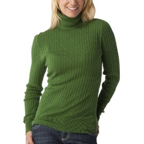 Merona® women's cable turtleneck sweater - rosemary green