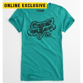 Fox party time teal tee
