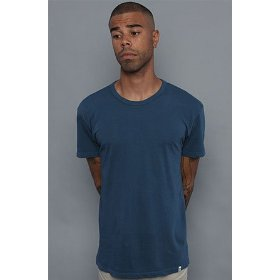 Obey the blank antique tee in dark denim,t-shirts for men