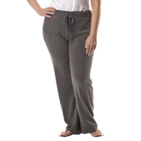 Women's plus-size merona® heather gray straight-leg lounge pants