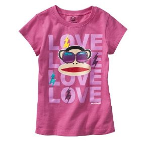 Girls' paul frank® for target® pink short-sleeve graphic tee
