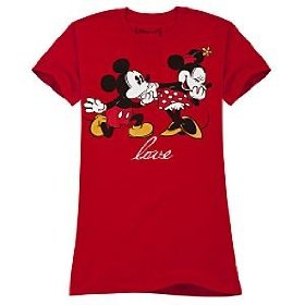 Disney love minnie mouse and mickey mouse tee