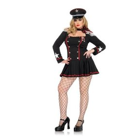 Sexy womens adult major mayhem, dress with fringe shoulder epaulettes leg avenue costume halloween o