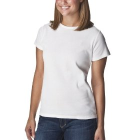 Cherokee® women's crewneck short sleeve tee - true white