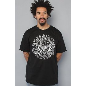 Crooks and castles the death of glory tee in black,t-shirts for men