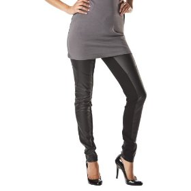 Mossimo® black: women's faux leather legging - black m