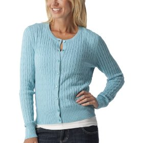 Merona® women's cable cardigan sweater - quiet aqua