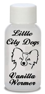 Little City Dogs concentrated VANILLA FLAVORED liquid wormer, kills hookworm & roundworm in cats and
