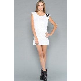 Sauce the punk dress in white,dresses for women