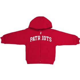 Reebok new england patriots boys (4-7) full zip hooded sweatshirt