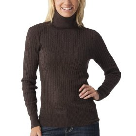 Merona® women's cable turtleneck sweater - heather brown