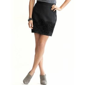 Banana republic tall crushed roses mini skirt