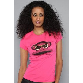 Paul frank the halftone julius tee in pink,t-shirts for women