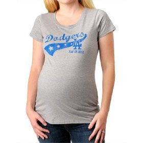Motherhood maternity: los angeles dodgers short sleeve scoop neck mlb maternity t shirt