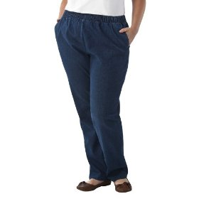 Women's plus-size cherokee® blue wide-leg elastic-waist pants