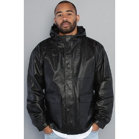 Crooks and castles the leather helmsman jacket in black,jackets for men