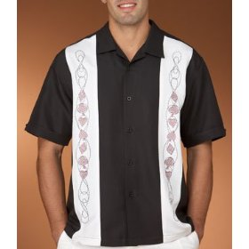 Cubavera poker panel novelty shirt