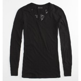 Nollie wing lace long sleeve tee