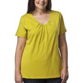 Women's plus-size merona® moss green v-neck short-sleeve fashion top