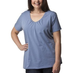 Women's plus-size merona® normandy blue v-neck short-sleeve fashion top