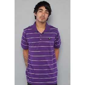 Lrg core collection the grass roots striped polo in purple,polos for men