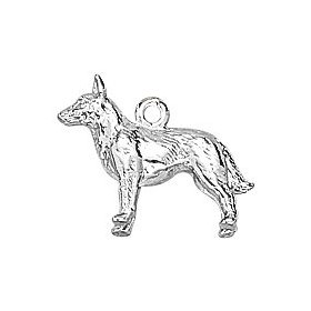 Sterling silver german shepherd dog charm