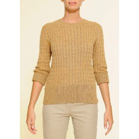 Mango women's cable-knit sweater