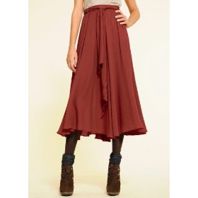 Mango women's skirt silky2