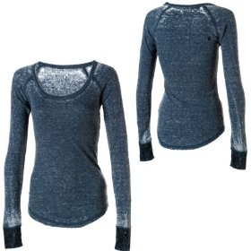 Volcom lace in yo face thermal t-shirt - long-sleeve - women's