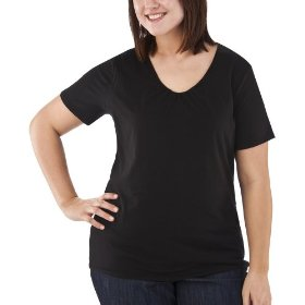 Women's plus-size merona® ebony v-neck short-sleeve fashion top