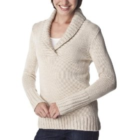 Merona® women's shawl collar pullover sweater w/sequins - polar bear