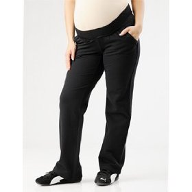 Motherhood maternity: under belly french terry drawstring maternity active pants