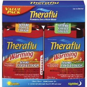 Theraflu daytime/nighttime warming relief combo cherry liquid  16.6-ounce total