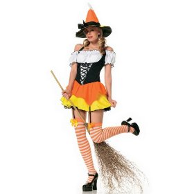 3pc wizard of oz kandy korn witch sexy holiday party costume
