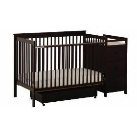 Stork craft madison stages crib with trundle