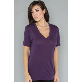 Rvca the zoey ii v-neck tee in grape,t-shirts for women